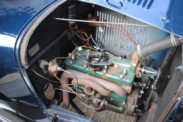 1929 Model A Ford Sport Coupe Engine