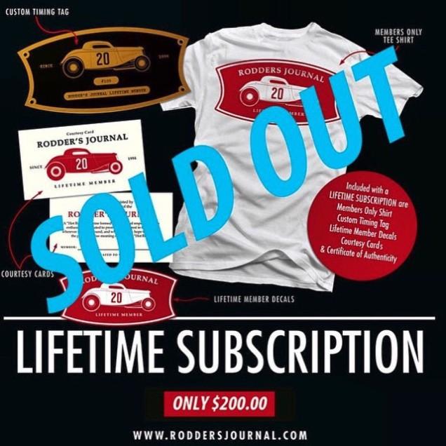 The Rodder's Journal Lifetime Subscription Offer