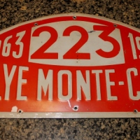 1963 Monte Carlo Rally Plate From Bo Ljungfeldt's Ford Falcon