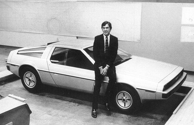 John DeLorean with his car.  PHOTO: DELOREAN MOTOR COMPANY